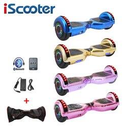 IScooter 6.5 Inch 2 Bánh Xe Trượt Điện Hoverboard Có Bluetooth Mang Theo Túi Tự Cân Bằng Xe Tay Ga