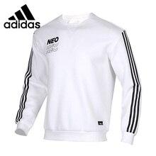 Оригинальный Новое поступление Adidas NEO м ESNTL 3S SWT Для мужчин с капюшоном (худи) и рубашки с коротким рукавом спортивный костюм