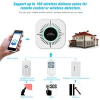 Wifi Thuis Intelligente Inbraakalarm Security System Sirene Raam Deur Sensoren Motion Alarm Met Afstandsbediening|Alarm Systeemkits|   -