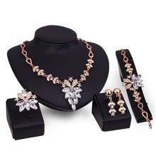 Godki luxus frauen schmuck set Ornament Mode Dame halskette set Charming Frauen Armband Paar Vintage Weibliche Fingle Ring