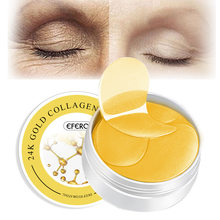 EFERO Gold collagen Gold Collagen Eye Mask Sleep Mask Hydrogel Eye Patches Pads Dark Circles Moisturizing Face Care Mask 60pcs(China)