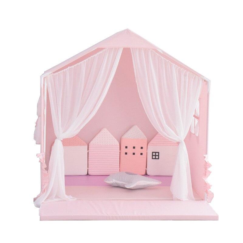 Bambini Tenda Casa di Grandi Dimensioni per Bambini Giocattolo Tenda Casa Giochi Al Coperto Piccola Principessa Delle Ragazze Ragazzi Letto con Recinzione Del Bambino Regali - 5