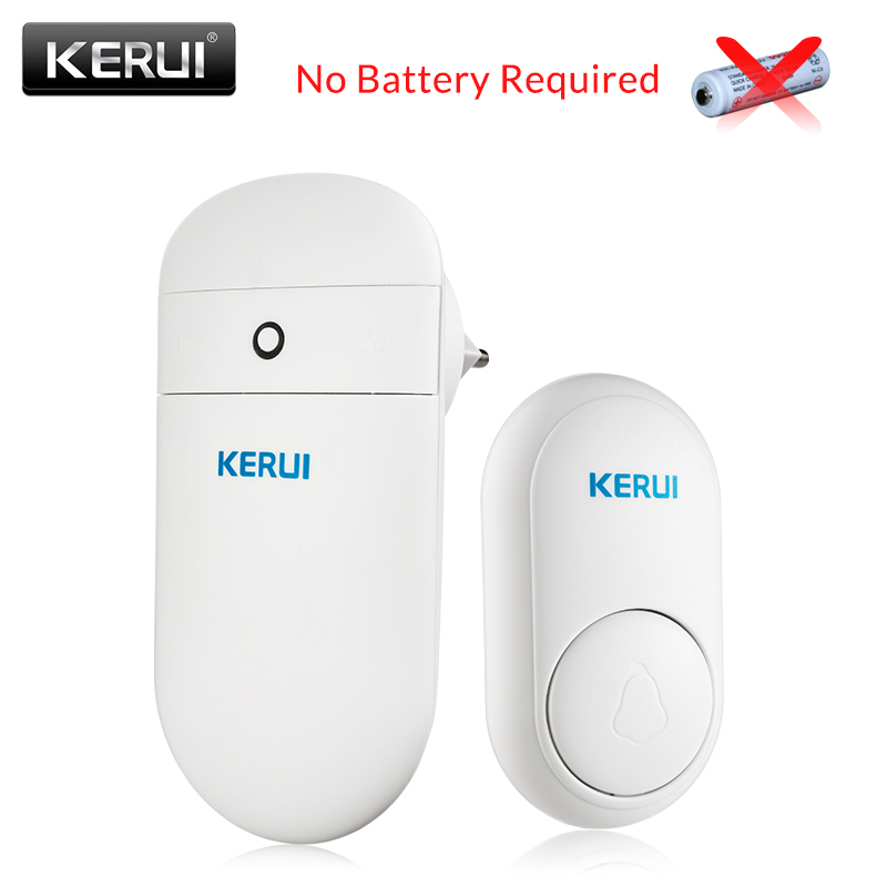 Kerui campainha da porta sem fio auto geração casa inteligente de longa distância sem necessidade bateria campainha sem fio com 52 melodias