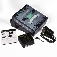 1Pc Profession Black New Critical Aurora Tattoo Power Supply for Tattoo Machine 2 Foot Pedal Mode Tattoo Supplies Free Shipping 2017 new mini critical aurora tattoo power supply with knob to adjust voltage supply siliver tps01