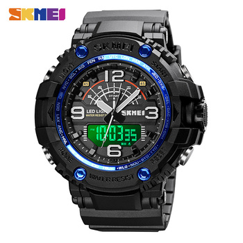 top luxury brand skmei camouflage military sports watches men fashion led digital men s wristwatch waterproof casual clock men SKMEI 1617 Top Brand LED Light Men Sports Watches 5Bar Waterproof Quartz Clock Military Male Digital Wristwatches montre homme
