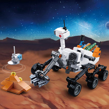 Model building kits compatible with Legoingly city Mars rover Space Probe vehicle blocks Educational