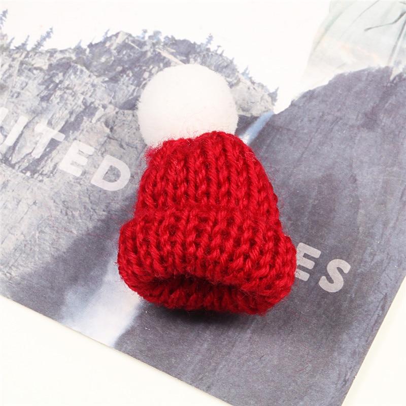 Нагрудные булавки брошь для женщин Милая Мини вязанная Hairball брошь «шляпа» булавка для свитера куртки значок ювелирные изделия шерстяной шар DIY подарок для женщин и девочек - Окраска металла: white-red