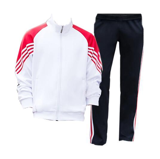 Men's Zipper Gym TrackSuit Sport Jacket Suit Set Trousers Jogging Bottom Top Sweatsuits Blazer Train Track Suit