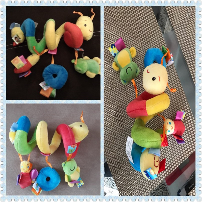 Baby Activity Spiral Stroller Car Seat Travel Lathe Hanging Toys Rattles Toy New
