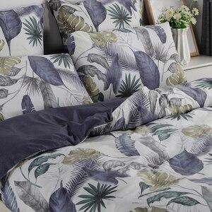 Image 5 - YAXINLAN постельное белье комплект хлопок подсветки двухцветный цветы рисунок простынь пододеяльник наволочка 4 7 части