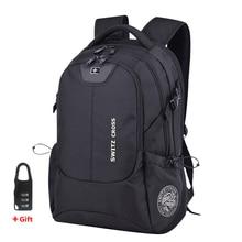 السويسري 17 بوصة محمول على ظهره الرجال USB شحن حقيبة السفر حقيبة مدرسية مقاوم للماء مكافحة سرقة حقائب النساء على ظهره Mochila