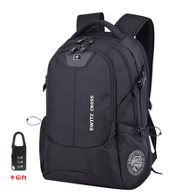 Swiss 17 inch Laptop Backpack Men USB Charging Travel Backpack School Bag Waterproof anti theft Backpacks Women bagpack Mochila