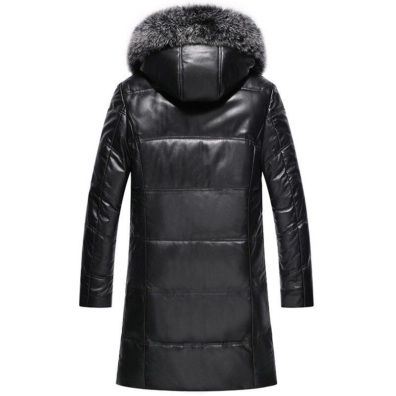 Winter Genuine Leather Jacket Men Fox Fur Hooded Long Sheepskin Coat Men's Down Jackets 2020 HQ19-YXG1905B KJ3637