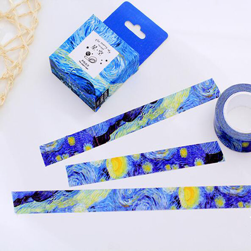 1 Pc Size 15 Mm*10m DIY Van Gogh Painting Paper Washi Tapes/masking Tape/decorative Adhesive Tapes/School Supplies