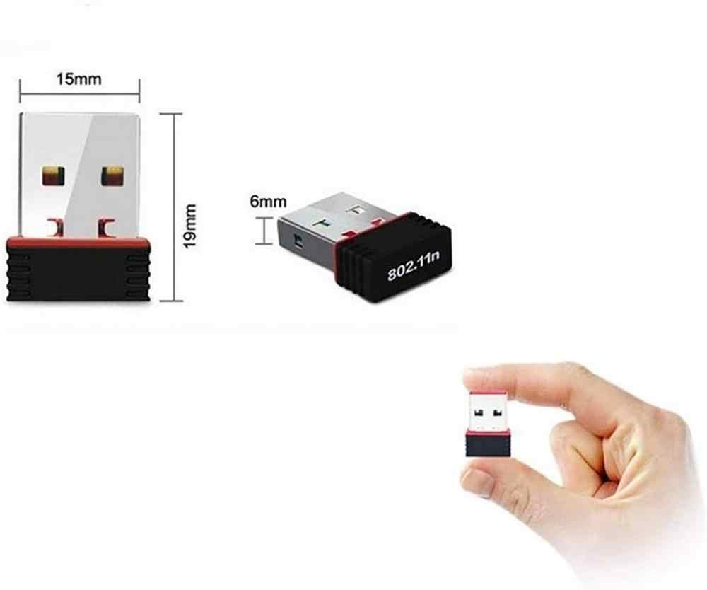 Zexmte mini adaptador sem fio usb 150mbps, placa de rede sem fio para pc, laptop, suporte para janela 10 8 7 mac 2.4 adaptador sem fio ghz para