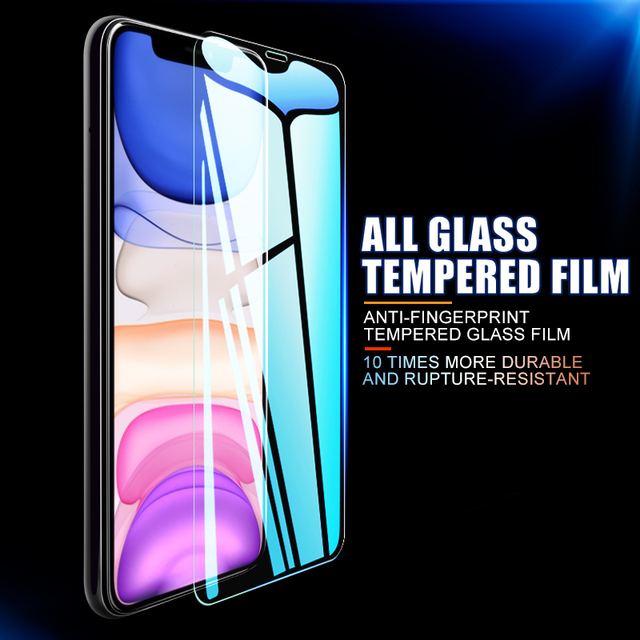 10D 3Pcs Tempered Glass On The For iPhone 7 8 6 6s Plus 5S SE Screen Protector For iPhone X XS XR 11 12 Pro Max Protective Glass 2