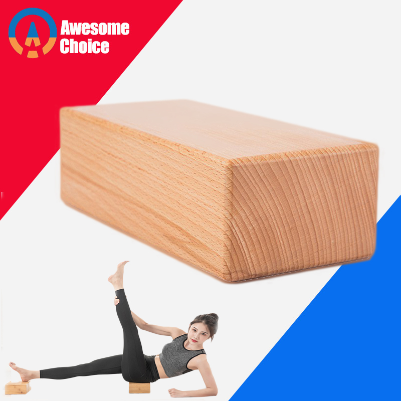 Natural Wood Yoga Block Brick For Crossfit Gym Fitness Exercise Workout Training Bodybuilding Equipment