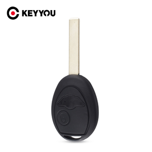 KEYYOU Uncut Blade Blank Key Shell Case Remote Fob Cover For BMW Mini Cooper R50 R53