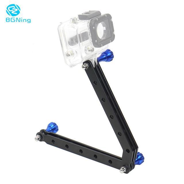 BGNing Aluminum Alloy Mount Helmet Arm Extension Pole + Screw Selfie Stick for Gopro SJCAM for AKASO EK7000 4K Action Camera
