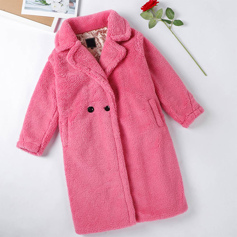 Femmes fourrure ours en peluche manteau en peluche 2019 automne hiver surdimensionné longs manteaux en peluche chaud à manches longues solide mode pardessus femme