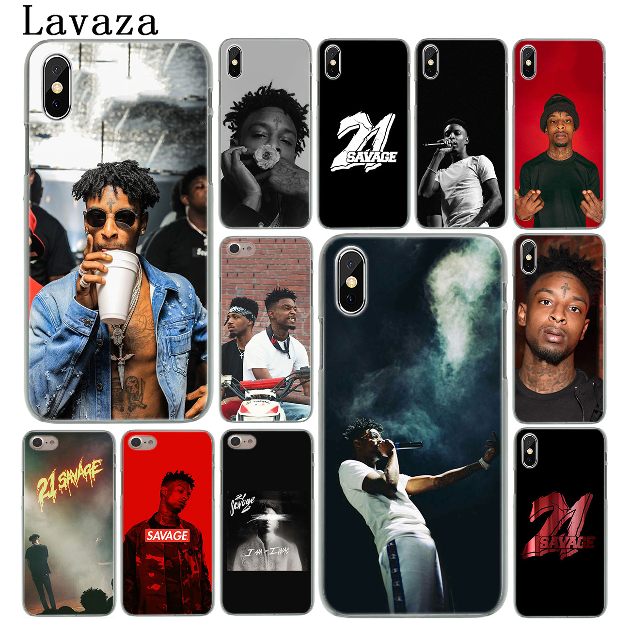 Lavaza <font><b>21</b></font> <font><b>Savage</b></font> 10 Cases Hard Phone Case for iPhone XR X XS 11 Pro Max 10 7 8 6 6S 5 5S SE 4 4S Cover image