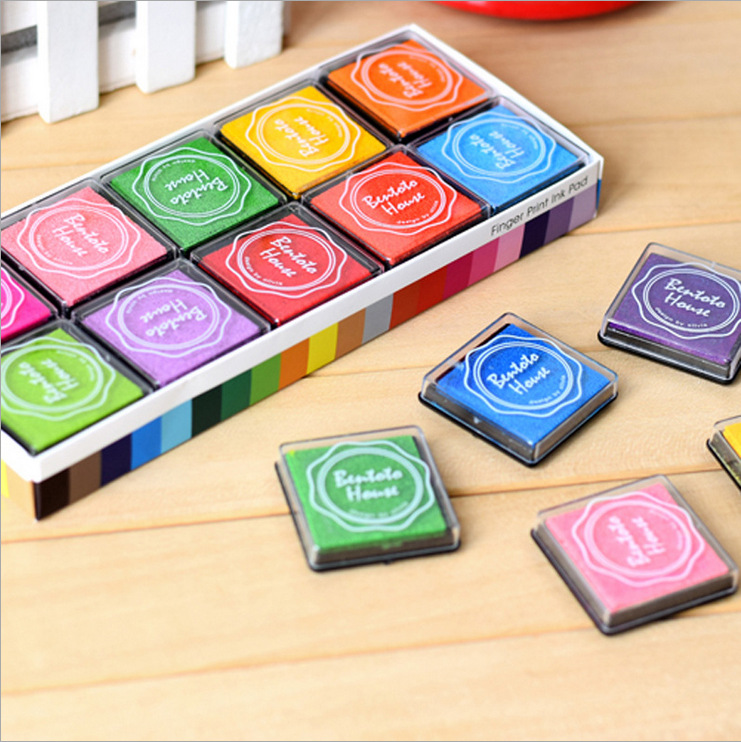 20 Boxes Colored Boxed Korean Color Small Ink Hand Account Ink Mud Seal Ink Mud DIY Hand Account Accessories