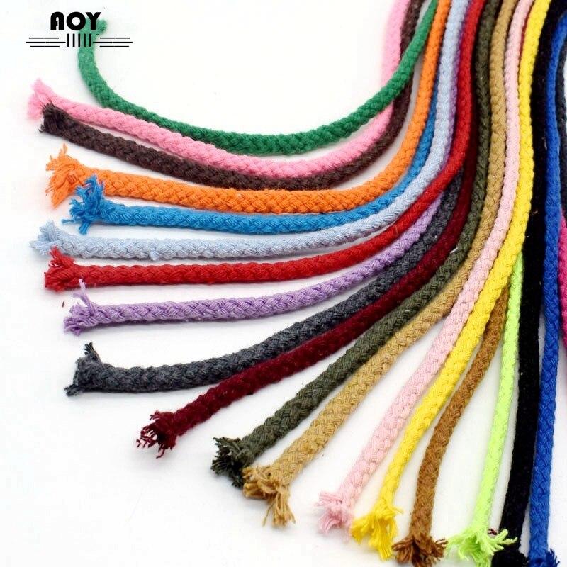 5 ярдов 7 мм Хлопок Веревка DIY ремесло декоративный витой шнур для шитья подарочная упаковка Букет Аксессуары Экологичные нити шнуры