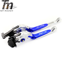 Brake Clutch Lever For YAMAHA YZFR1 YZF-R1 1999 2000 2001 Blue+Silver Motorcycle Adjustable Folding Extendable Logo YZF R1 for yamaha yzfr1 yzf r1 2002 2003 blue silver motorcycle adjustable folding extendable brake clutch lever logo yzf r1