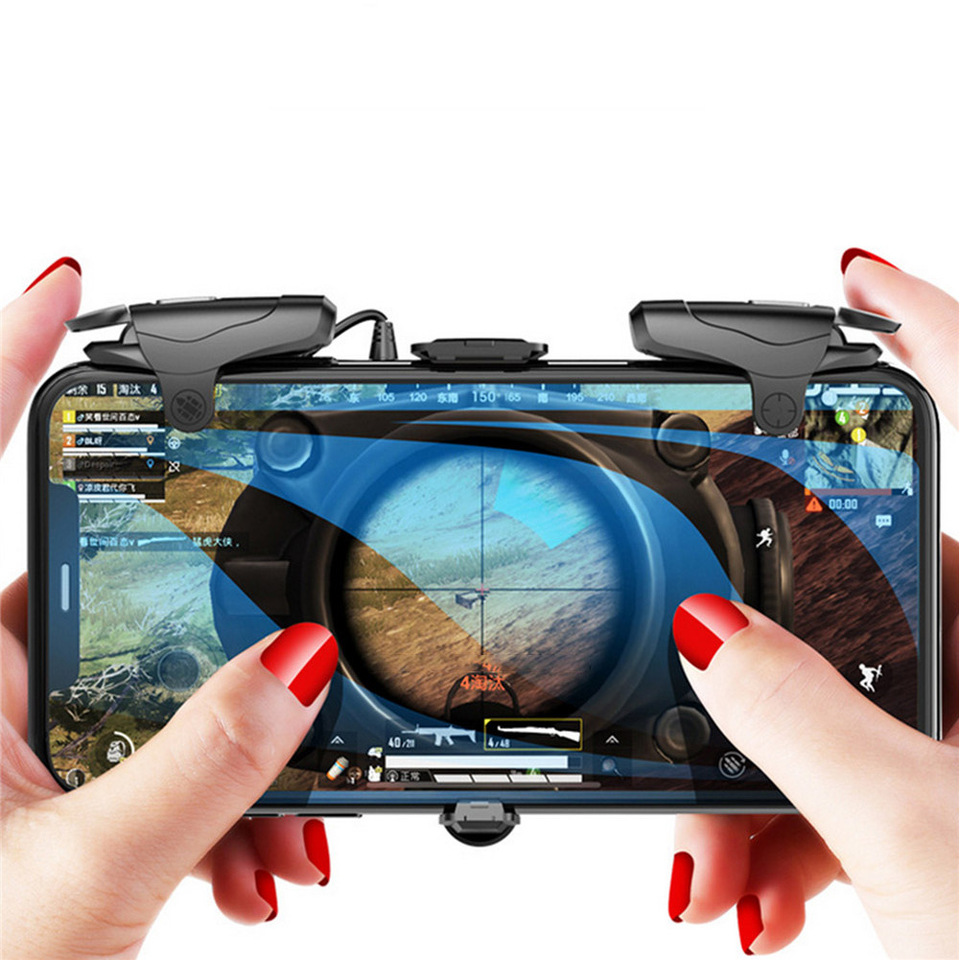 Transformers Fast Trigger Shooter Controller for PUBG Mobile Gaming Handle  Gamepad for iPhone 11 Pro Max Cooling Fan Joystick|