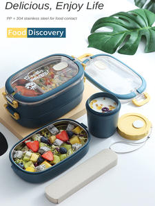 Tableware Storage Breakfast-Boxes Lunch-Box Food-Container Bento Stainless-Steel Multi-Layer