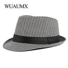 Wuaumx британский стиль фетровые шляпы для мужчин и женщин в