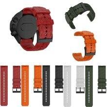 Watch-Strap Bracelet Spartan-Watch-Band Silicone-Rubber for Suunto-9/7-Baro HR