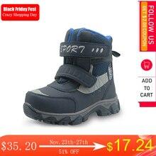 Apakowa冬男の子の雪のブーツ防水アンクル子供ブーツフラット暖かいwollen裏地子供の靴ぬいぐるみ冬のブーツ男の子
