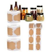 150 pièces/rouleau étanche auto-adhésif étiquettes autocollants cuisine épice étiquette confiture pot bouteille étiquettes cadeaux boîte paquet étiquette