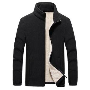 Image 4 - Vestes en molleton polaire pour hommes, nouveau col montant dhiver, manteau chaud épais, grande taille 6XL 7XL 8XL 9XL, collection 2019