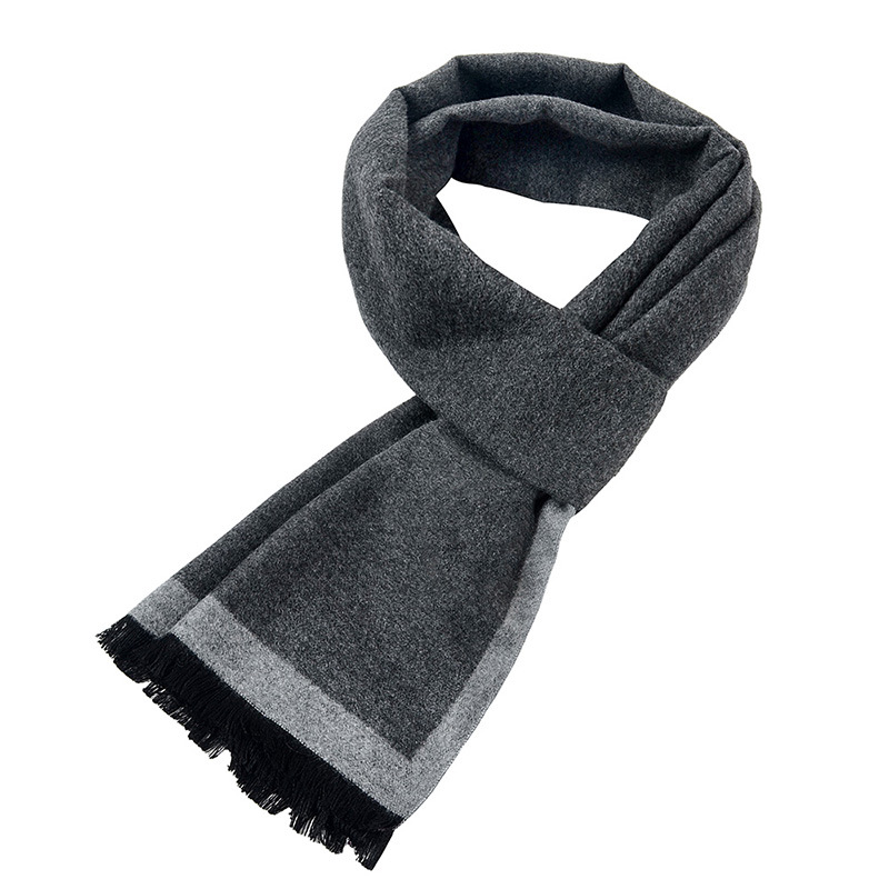 [Peacesky]2019 New Brand Winter Men's Gift Gray Striped Scarves Business Gentleman,Cashmere Scarf ,Men Scarves,Bufanda