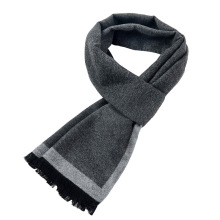 [Peacesky]2019 New Brand Winter Mens gift Gray Striped Scarves Busines