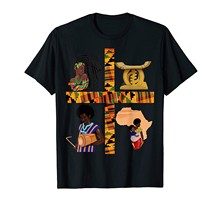Camiseta presente da história preta do gana do teste padrão do kente de oheneba melanin