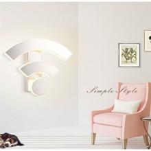 Wall Light Acrylic WIFI Sconce Modern Bedroom Bedside Lamp Creative Restaurant KTV Hotel Aisle Corridor Lights Bath Light+