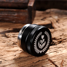 51/53/58mm Adjustable 304Stainless Steel Coffee Espresso Tamper Macaron Convex Four Angled Slopes Base Thread Distribution Tools