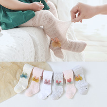 10pcs Cute Candy Color Baby Summer Tights Baby Toddler Kid Girl Ribbed Stocking Cotton Warm Pantyhose Solid Tight 0-5 years Girl