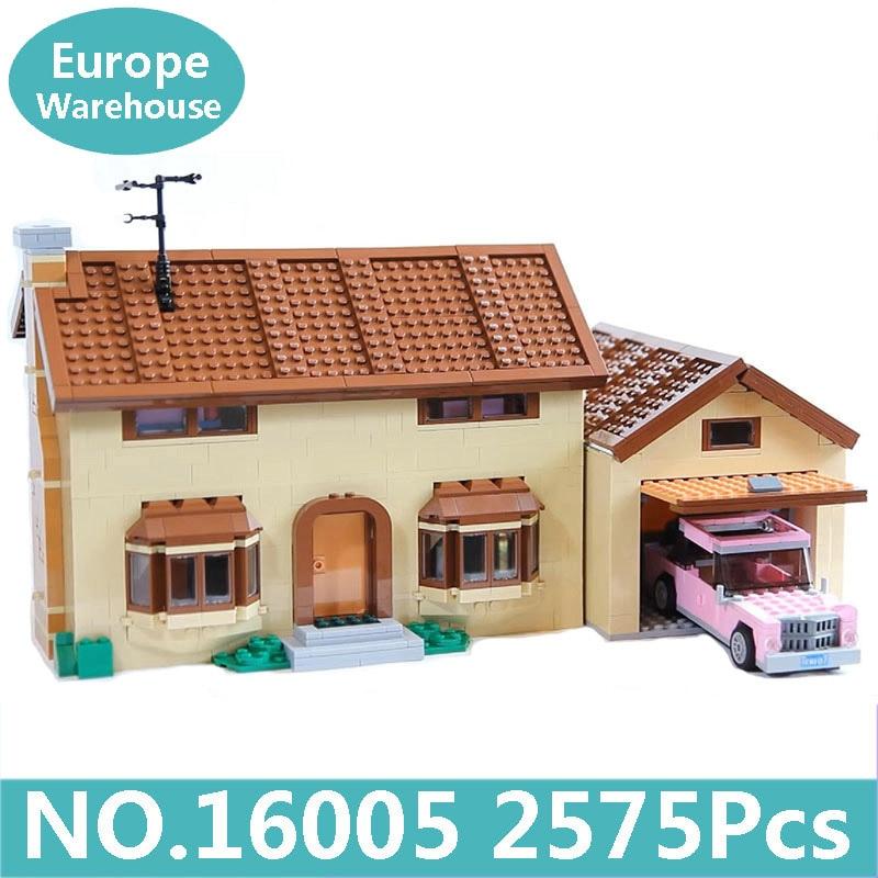 킹 벽돌 lepinblocks 16004 16005 kwik e mart simpsons 하우스 빌딩 블록 그림 영화 아키텍처 71016 장난감 선물-에서블록부터 완구 & 취미 의  그룹 1