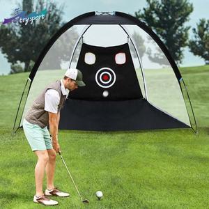 Siatka golfowa Golf Strike netto trening kryty odkryty PTent Golf uderzenie siatka do odławiania ryb użytki zielone praktyka namiot Golf Cut ball sport