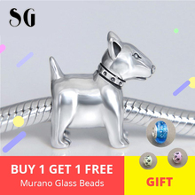 Hot Sale 925 Sterling Silver Puppy Dog Pet Beads For Women Fit Original Pandora Charms Bracelet Authentic Fashion DIY Jewelry