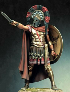 Image 1 - 1/18 90mm  ancient stand  warrior with shield   (WITH BASE ) Resin figure Model kits Miniature gk Unassembly Unpainted