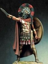 1/18 90mm starożytny stojak wojownik z tarczą (z podstawą) żywica model figurki zestawy miniaturowe gk unasembly niepomalowane