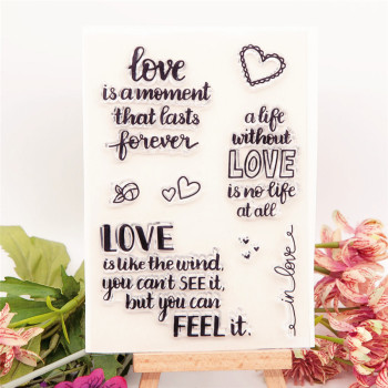 10x14.5cm Everlasting love transparent seal clear stamps silicone seal TPR roller stamps DIY scrapbook album / card production image