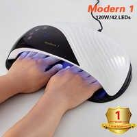 120W/80W Modern 1 UV LED Lamp Nail Dryer For All Types Gel 45 Leds UV Lamp for Nail Manicure Sun Light Infrared Sensing Smart