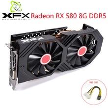 XFX Radeon RX580 8GB DDR5 Video Karte AMD GPU RX580 8GB 256 Bit Grafikkarte Video Spiel PC video Karte Verwendet Original Video Karten