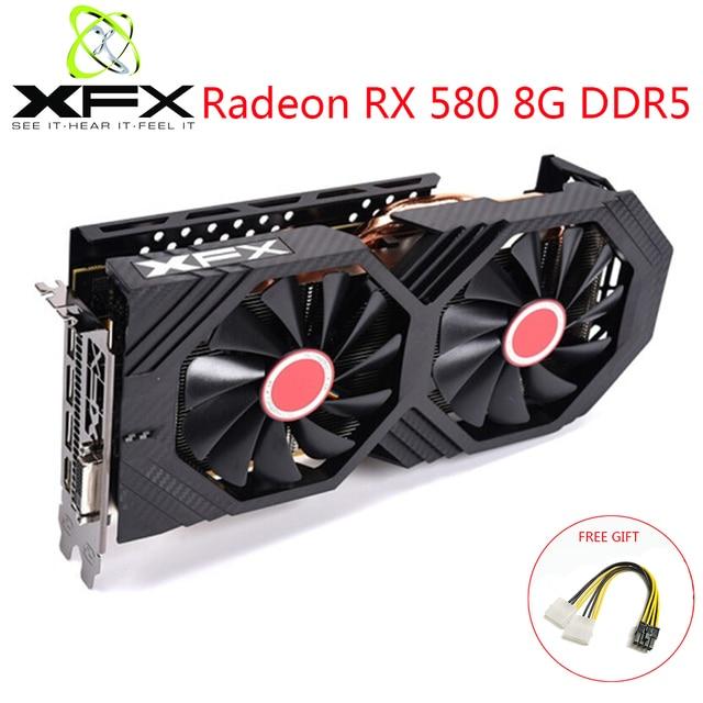 Xfxのradeon RX580 8ギガバイトDDR5ビデオカードamd gpu RX580 8ギガバイト256ビットグラフィックスカードビデオゲームpcビデオカード使用オリジナルビデオカード